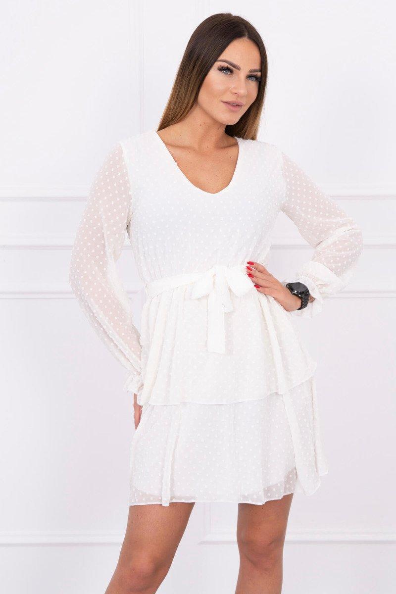 bc91c31662 Sukienka rozkloszowana z teksturą ecru · Sukienka rozkloszowana z teksturą  ecru ...