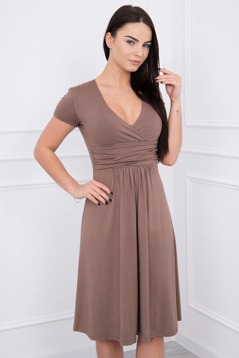 6fe8a2ee252ad8 ... Sukienka z odcięciem pod biustem, krótki rękaw cappuccino ...