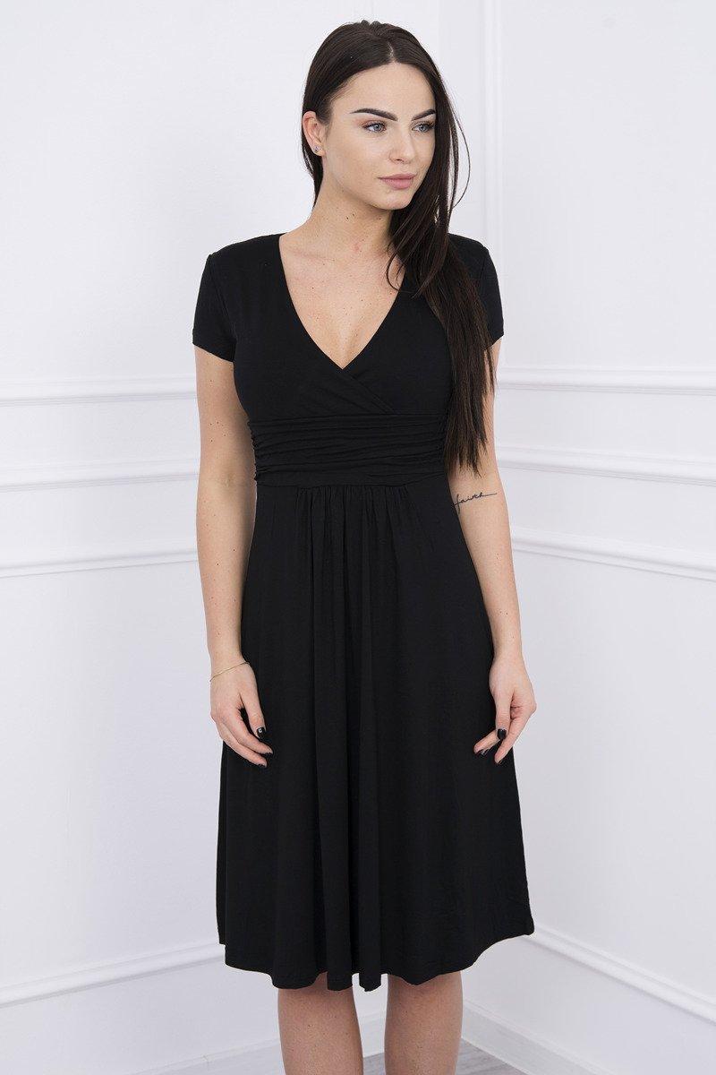 167d15a617695e ... Sukienka z odcięciem pod biustem, krótki rękaw czarna ...