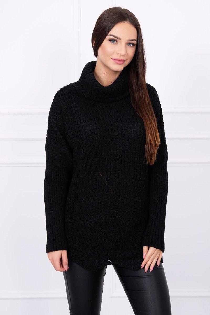 9535e150db Sweter z falą czarny · Sweter z falą czarny ...