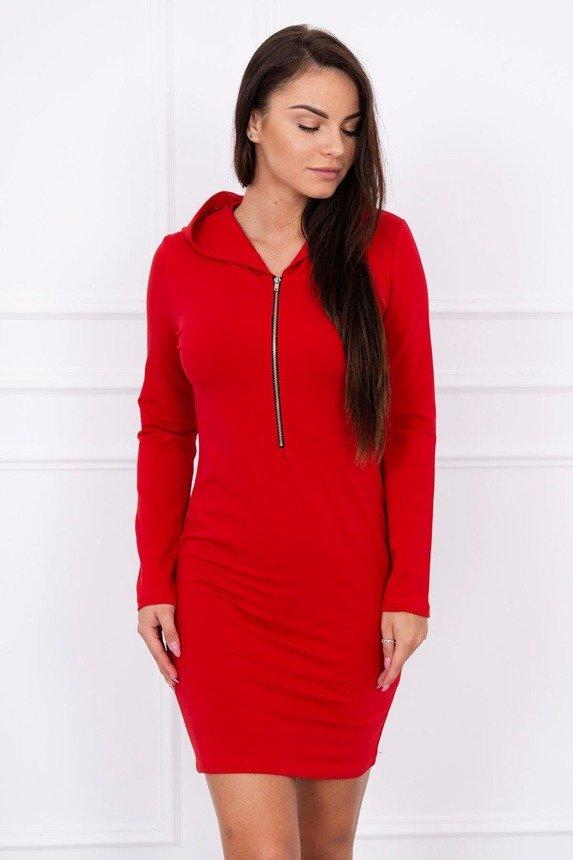 Šaty so zipsom červená e9b03dc1a0e