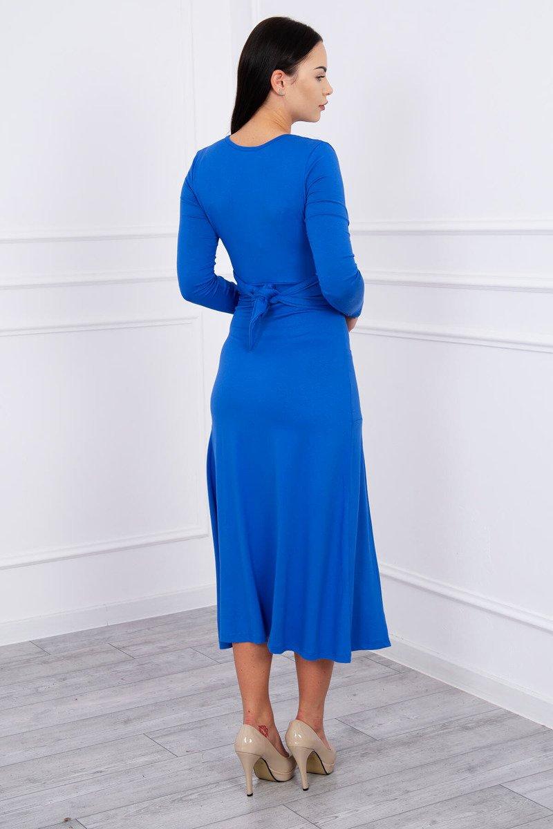 0f9099b67730 ... Rovný šaty V-výstrih kráľovská modrá ...