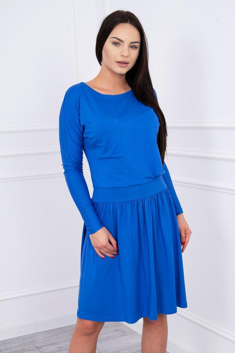 3f5b10194cdf ... Šaty s rozšírenou spodnou a vrecko kráľovská modrá ...