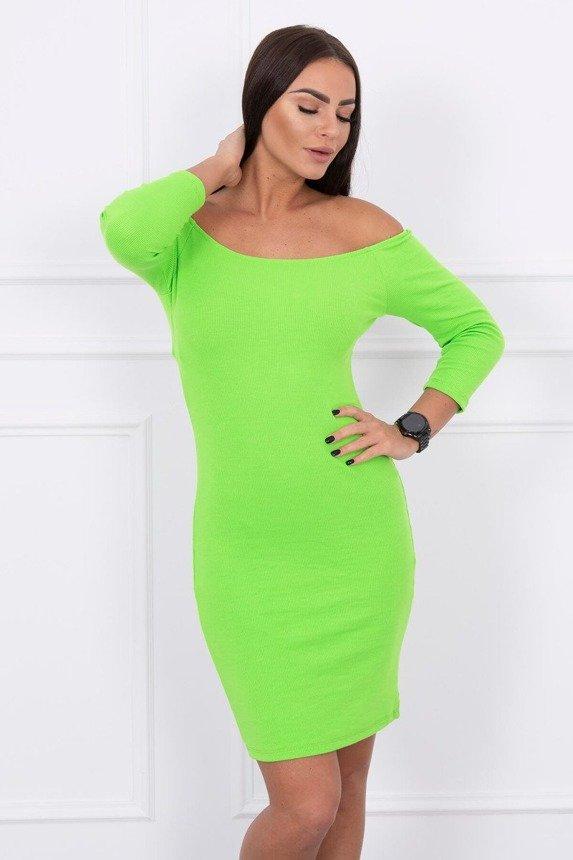 Šaty sú vybavené - rebrovanie zelená neón ce8d078afe